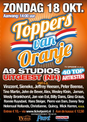 Optreden bij de Toppers van Oranje
